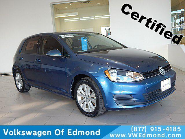 Certified Pre-Owned 2015 Volkswagen Golf 4dr HB DSG TDI S