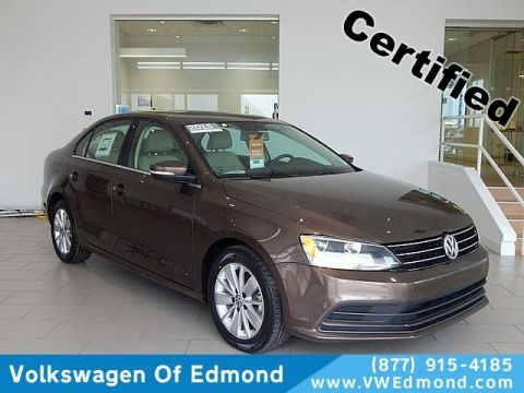 Certified Pre-Owned 2015 Volkswagen Jetta 4dr DSG 2.0L TDI SE w/Connectivity